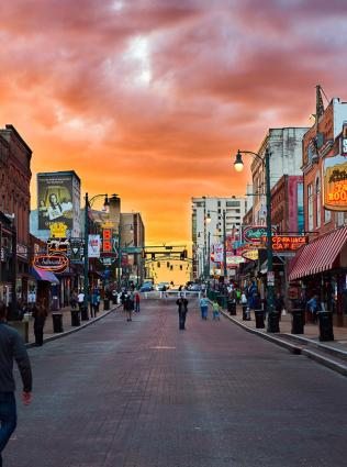 Sunset on Beale Street