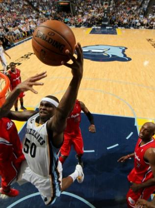 Memphis Grizzlies play at FedExForum