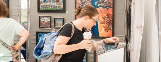Shopping for art at RiverArtsFest