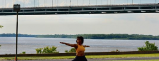 Yoga on the river