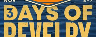 """fieldaze graphic with photo of kayakers and words """"3 Days of Revelry By The River"""""""