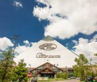 Exterior of Bass Pro Pyramid and Big Cypress Lodge