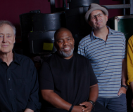 Six members of the band Bruce Hornsby & The Noisemakers