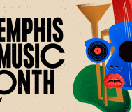 A large-scale view Memphis Music Month Promotional Artwork