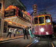 The Orpheum Theatre and trolley. Photo Credit: Phillip Parker