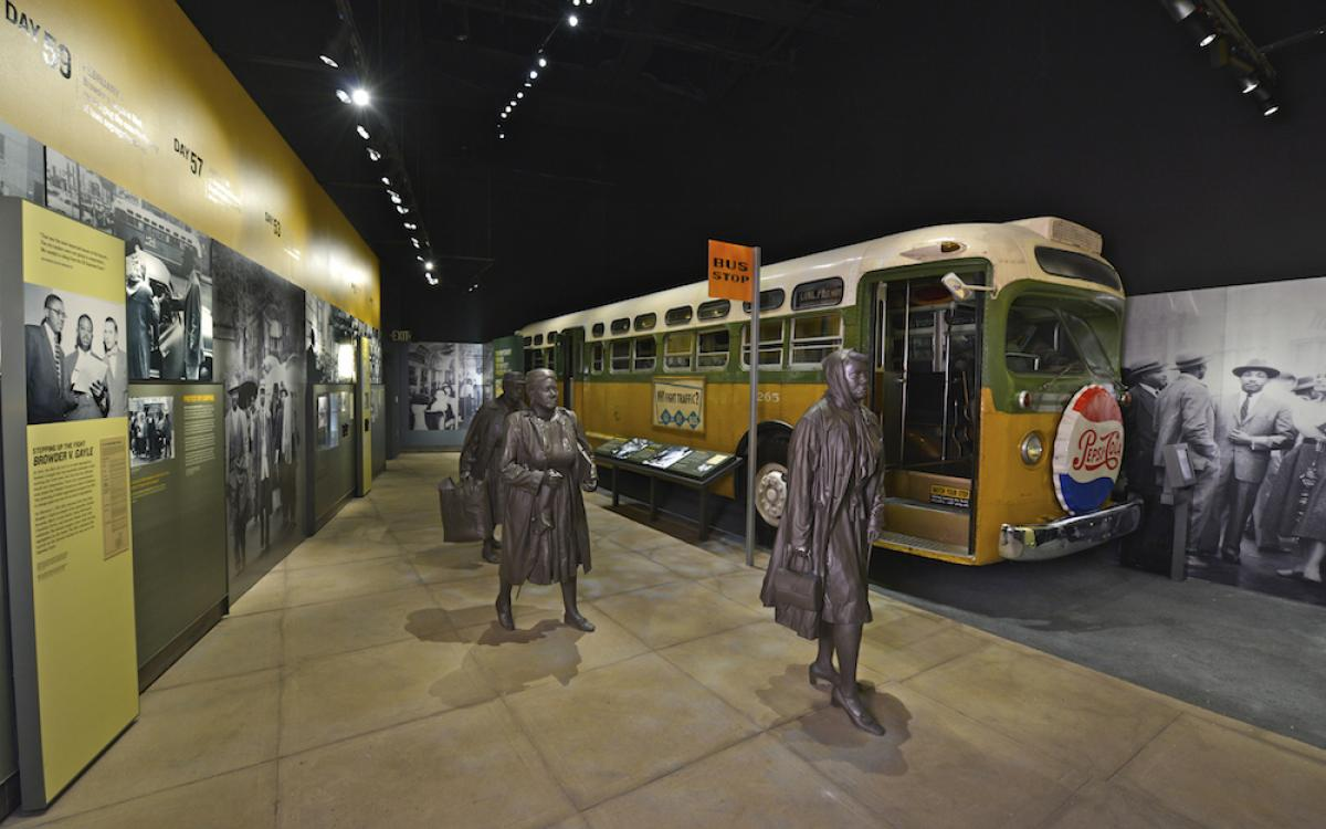 Montgomery Bus Exhibit at National Civil Rights Musuem
