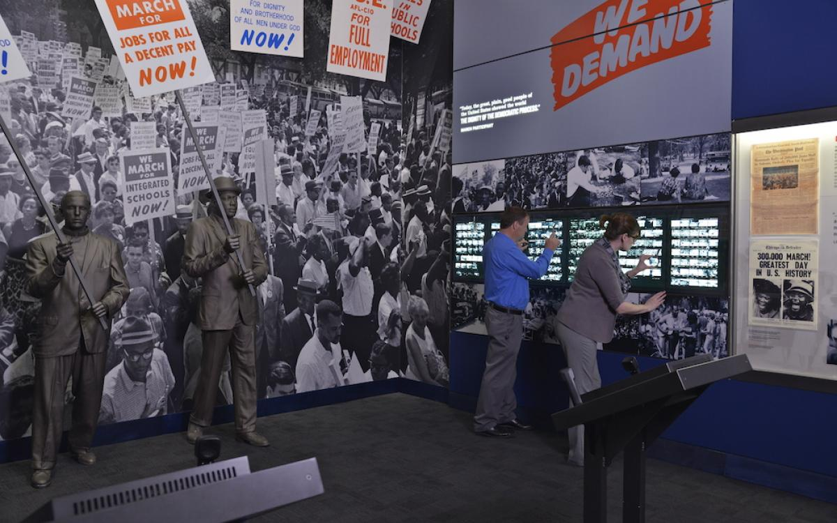 March on Washington Exhibit at National Civil Rights Museum