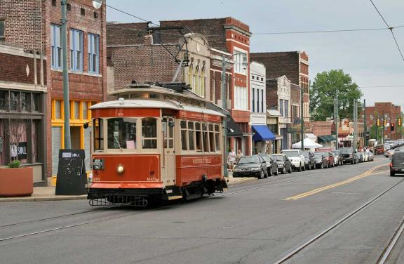 Trolley on South Main Street, Memphis | Baxter Buck