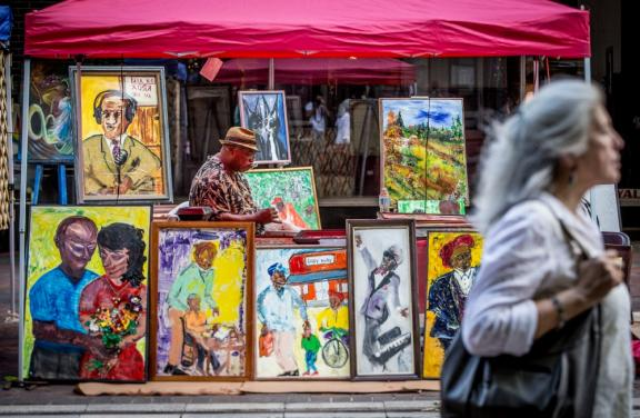Local art for sale at Memphis Music and Heritage Festival at Center for Southern Folklore